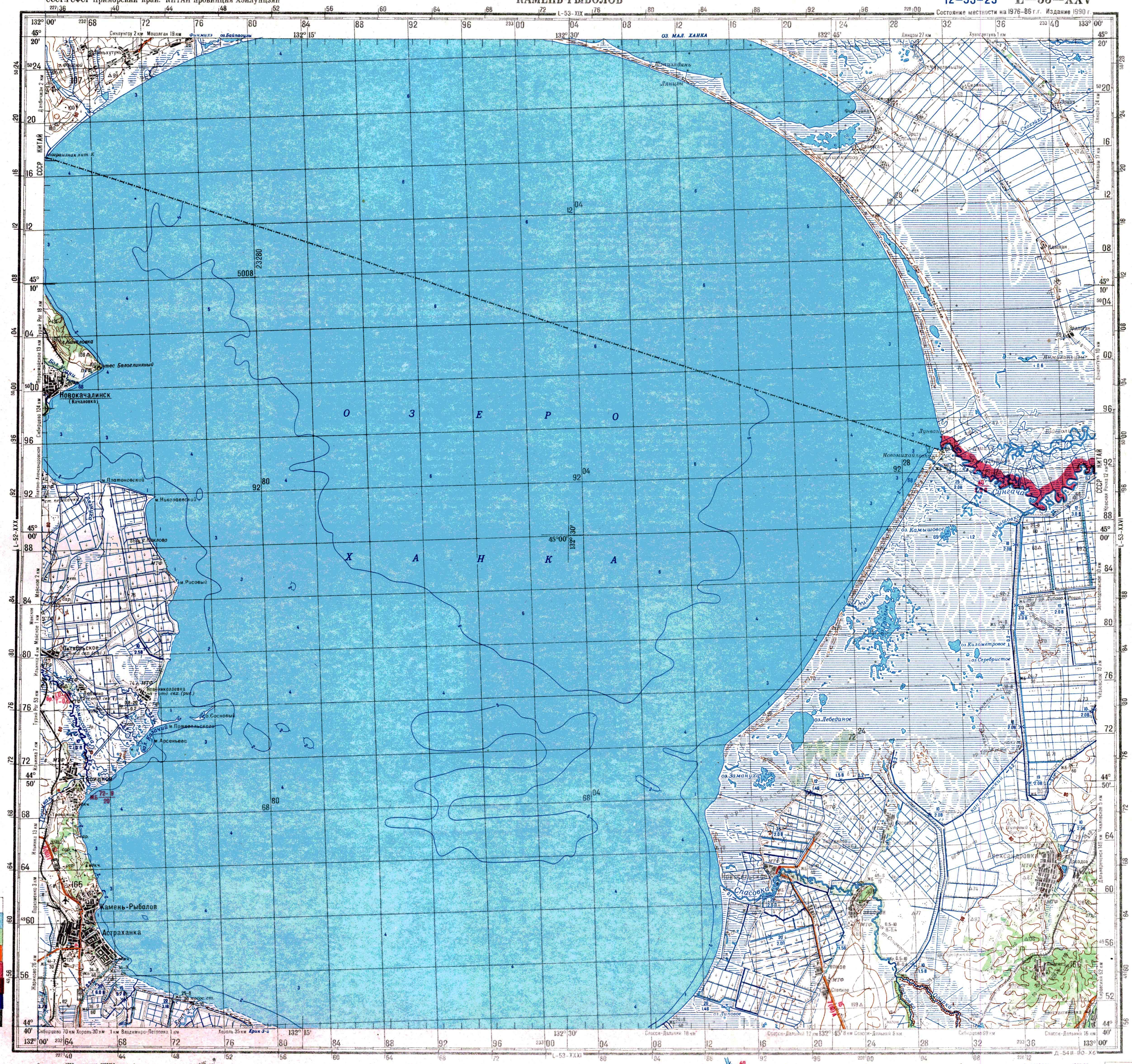 поселок камень рыболов на карте